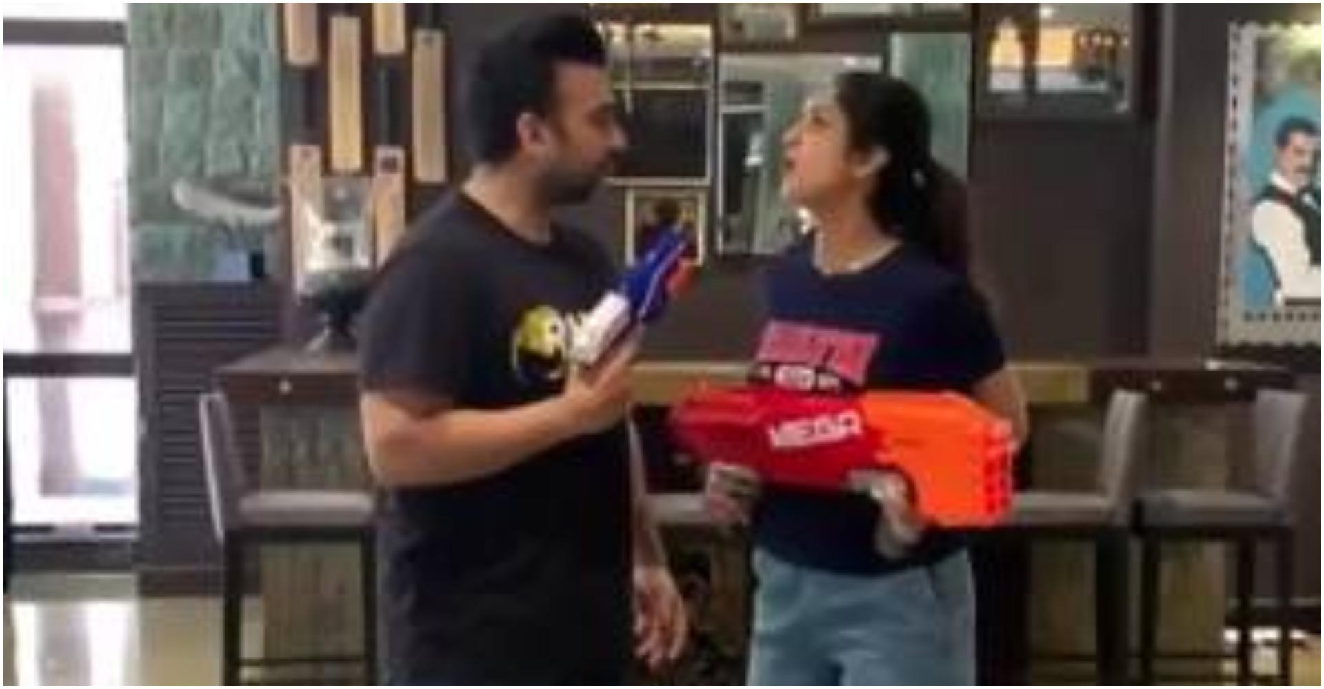 शिल्पा शेट्टी और राज कुंद्रा के बीच छिड़ा युद्ध, वजह है नारायण उर्फ़ बेटा वियान, देखें मजेदार वीडियो