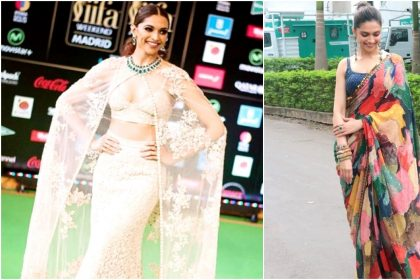 Deepika Paukone in Sabysachi outfits
