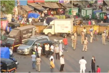 After Lockdown extended thousand of people reach at Bandra Station in Mumbai, Lathicharged by Cops