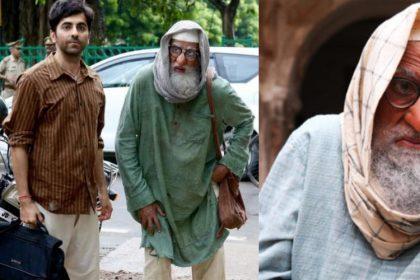 आयुष्मान खुराना और अमिताभ बच्चन की तस्वीर
