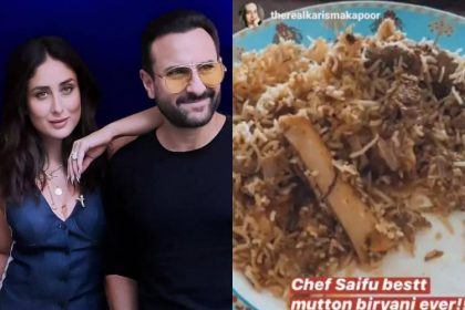 Kareena Kapoor shares a photo of Eid biryani cooked by 'chef' Saif Ali Khan on Instagram