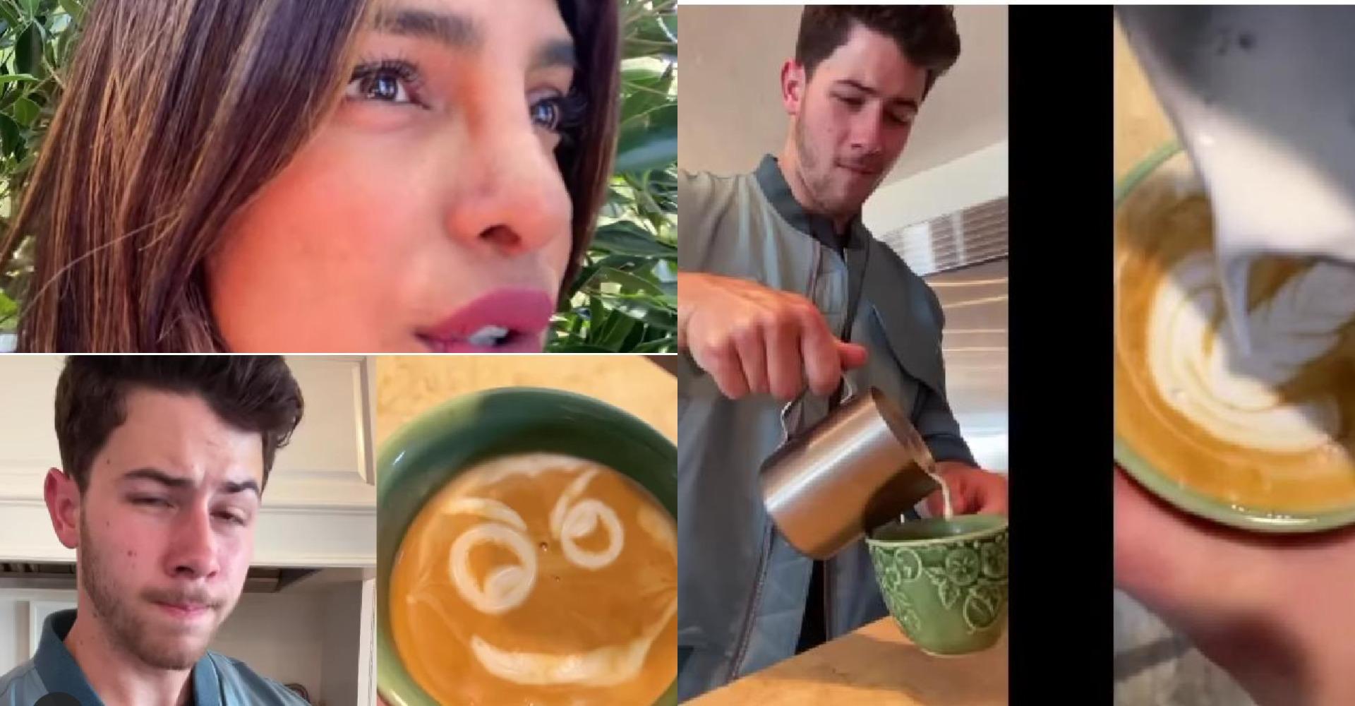 प्रियंका चोपड़ा के पति निक जोनस को क्वारंटाइन में लग गई अलग-अलग प्रकार की कॉफी बनाने की आदत, यहाँ देखे वीडियो