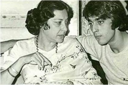 नरगिस दत्त और संजय दत्त की तस्वीर (फोटो: इंस्टाग्राम)