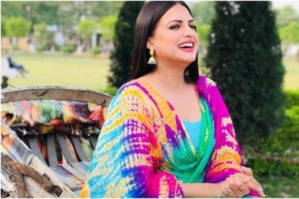 Himanshi Khurana Photos: Himanshi Khurana stylish look will give you fashion goal!