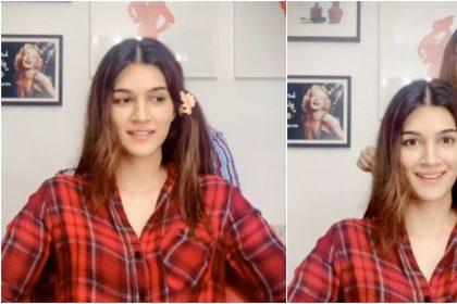 कृति सेनन ने बहन नूपुर से डर-डर के कटवाए अपने बाल, वीडियो सोशल मीडिया पर हो रहा है Viral