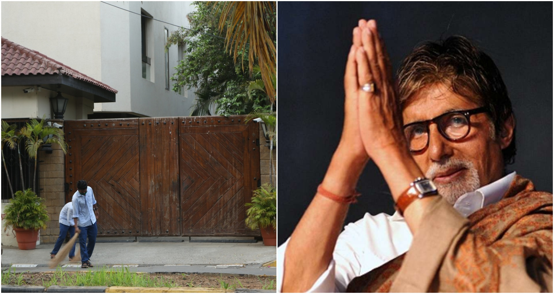'जलसा' के बाहर साफ-सफाई करते नजर आए कोरोना योद्धा तो भावुक हुए अमिताभ बच्चन, शेयर की तस्वीरें