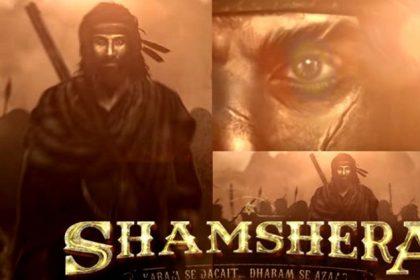 शमशेरा का पोस्टर