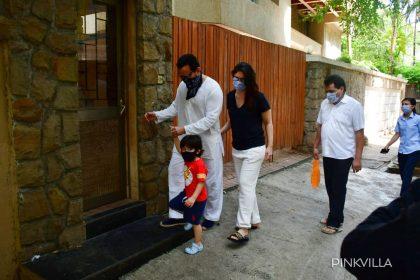 Photos: लॉकडाउन में सैफ अली खान, करीना कपूर खान और तैमूर मुंबई में हुए स्पॉट, देखें तस्वीरें