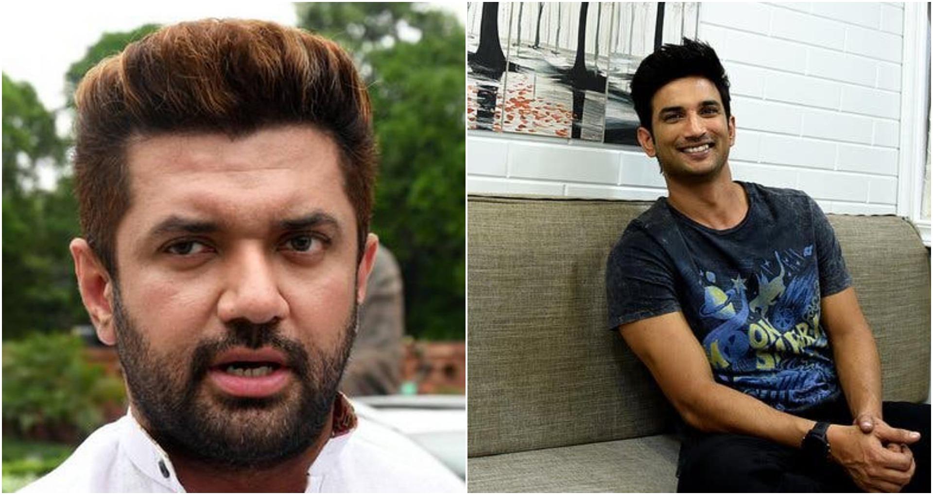 चिराग पासवान ने की सुशांत सिंह राजपूत की आत्महत्या पर कार्रवाई की मांग
