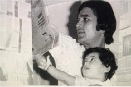 ट्विंकल खन्ना और राजेश खन्ना की तस्वीर (फोटो: इंस्टाग्राम)