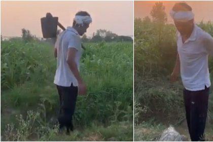 नवाजुद्दीन सिद्दीकी सिर पर गमछा बांधे देसी अंदाज में आए नजर, वीडियो हो रहा वायरल