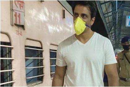 सोनू सूद ने 1000 प्रवाशी मजदूरों को ठाणे रेलवे स्टेशन से ट्रैन से किया रवाना