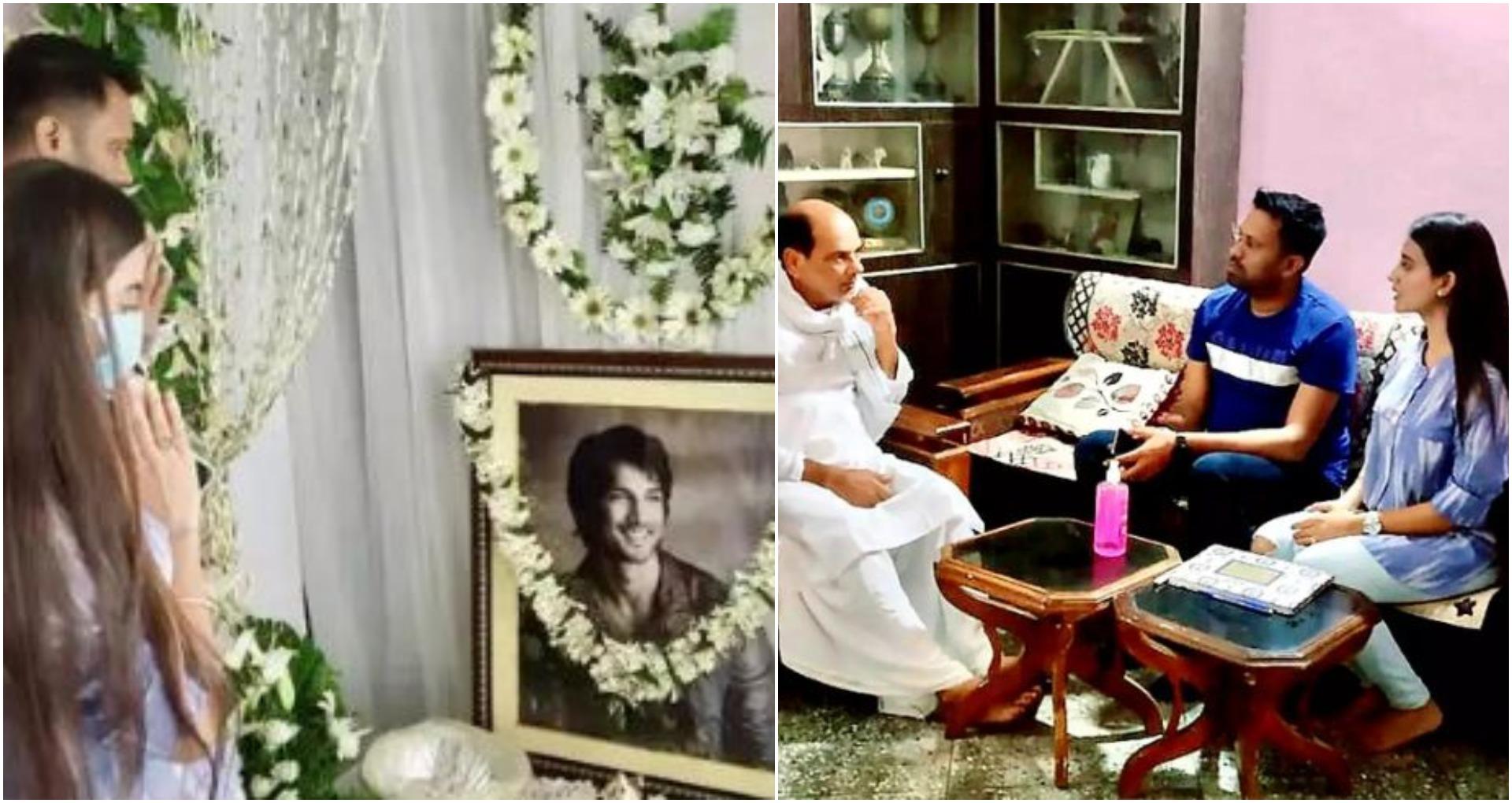 भोजपुरी एक्ट्रेस अक्षरा सिंह पहुंची सुशांत सिंह राजपूत के घर, व्यक्त की श्रद्धांजलि
