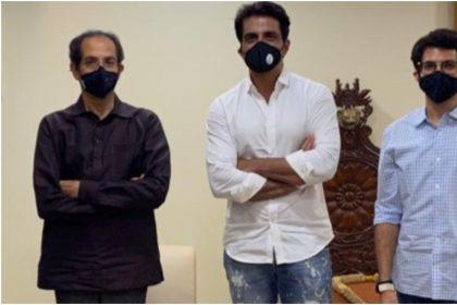 सोनू सूद ने उद्धव ठाकरे और आदित्य ठाकरे से मातोश्री पर की मुलाकात