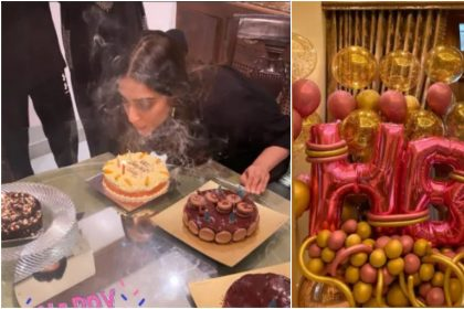 सोनम कपूर ने धूमधाम से मनाया अपना जन्मदिन