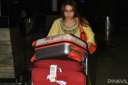Sara Ali Khan Photos: सारा अली खान का सिंपल एयरपोर्ट लुक में ढाया कहर, लोगों ने खोया अपना दिल