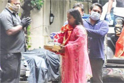 Ganesh Chaturthi : सलमान खान की बहन अर्पिता खान ने अपने घर किया गणपति बाप्पा का स्वागत, देखिये तस्वीरें