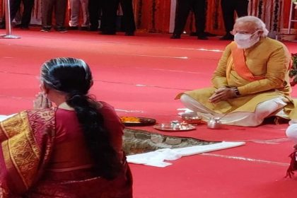 Ram Mandir Bhoomi Pujan Live Updates: पीएम मोदी ने 12.44.08 बजे रखी राम मंदिर की आधारशिला