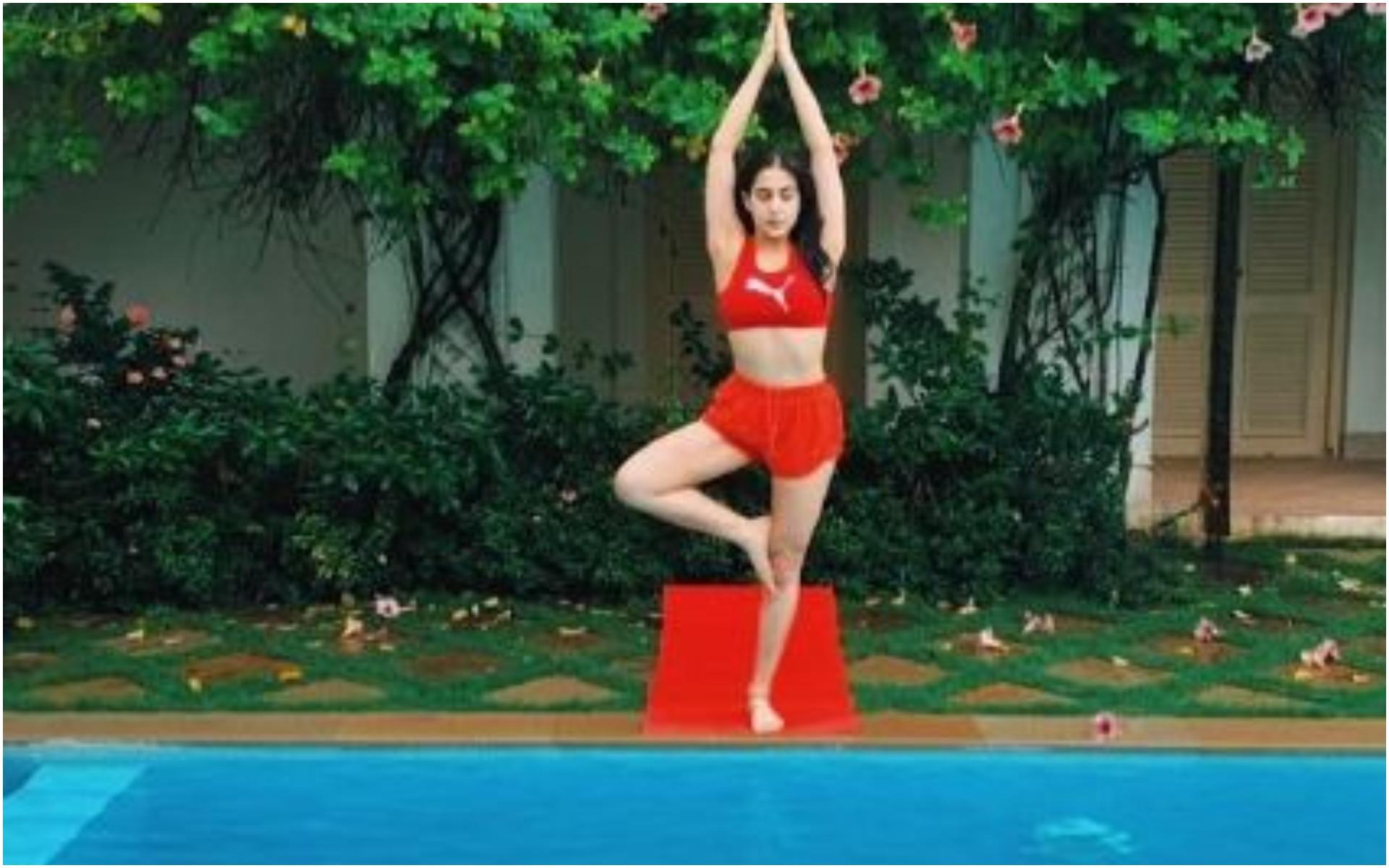 स्विमिंग पूल में इस ख़ास अंदाज में नजर आईं सारा अली खान, फोटो देख घायल हुए फैंस!