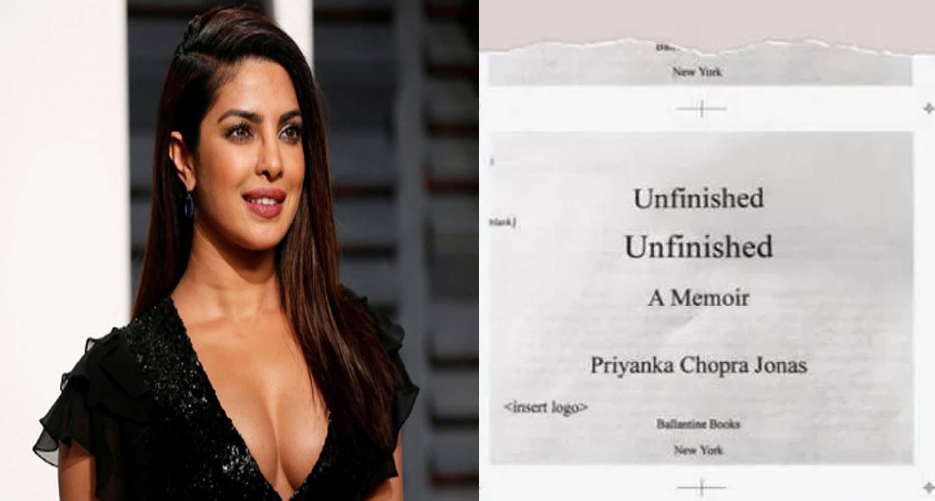 प्रियंका चोपड़ा ने की अपनी बायोग्राफी अनफिनिश्ड को लेकर पोस्ट, जल्द करेंगी लॉन्च