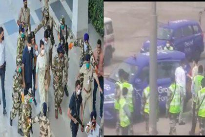 मुंबई पहुंचीं कंगना रनौत, एयरपोर्ट पर समर्थकों के साथ विरोधियों की भारी भीड़