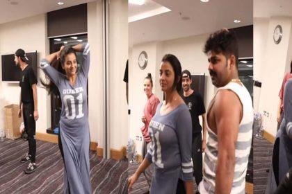 Akshara Singh Dance Video: पवन सिंह के हिट गानों पर अक्षरा सिंह का जोरदार डांस! वीडियो वायरल
