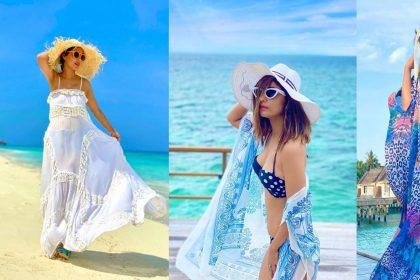 Hina Khan Photos: मालदीव में हिना खान ने बिकिनी में दिए बोल्ड पोज, सोशल मीडिया पर हुए Viral