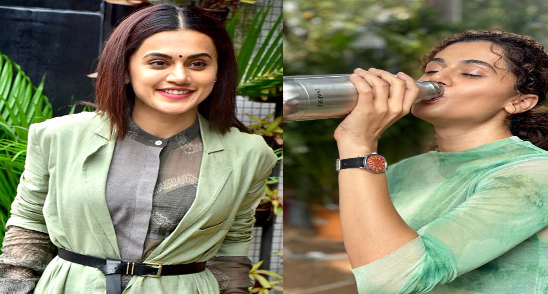 तापसी पन्नू की फ़िल्म 'लूप लपेटा' का सेट है प्लास्टिक-मुक्त