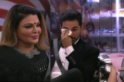 BB14: राखी सावंत के 'एंटरटेनमेंट' की वजह से रो पड़े अभिनव शुक्ला और कहा मुझे अभी घर से निकालो!
