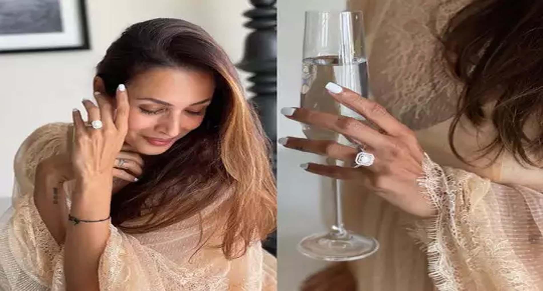Malaika Arora Photos: मलाइका अरोड़ा ने पहनी 'सगाई की अंगूठी'! फैंस देने लगे बधाई