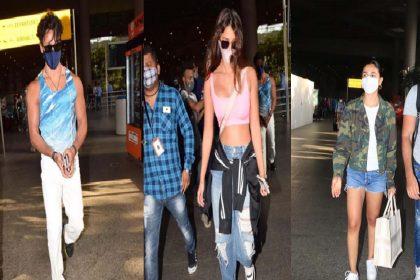 एयरपोर्ट पर स्पॉट हुए बॉलीवुड के लव बर्ड्स रणबीर-आलिया और टाइगर-दिशा! देखें फोटोज