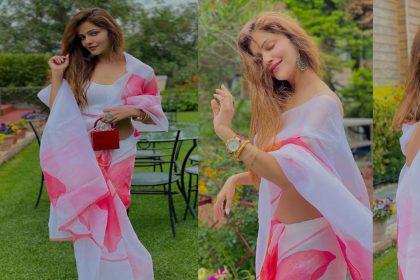 """Rubina Dilaik Photos: रुबीना दिलैक ने अलग स्टाइल में पहनी साड़ी! फैंस बोले- """"बॉस लेडी"""""""