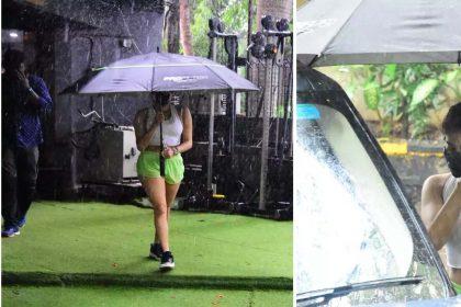 तेज बारिश भी जाह्नवी कपूर को जिम जाने से नहीं रोक सकी! देखें तस्वीरें