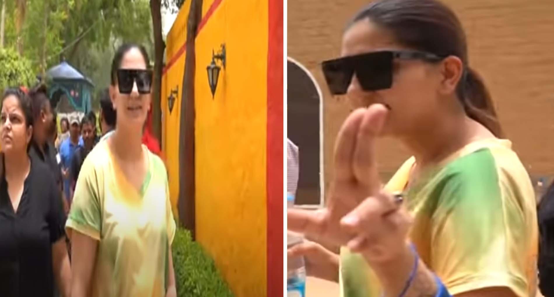 Sapna Choudhary Video: सपना चौधरी ने नए गाने के सेट पर की जमकर मस्ती! देखें वीडियो