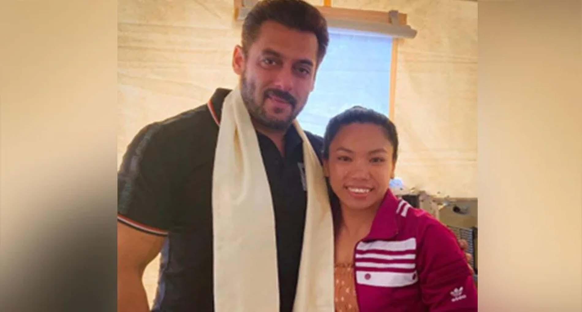 सलमान खान से मिलीं ओलंपिक सिल्वर मेडलिस्ट मीराबाई चानू! शेयर की फोटो