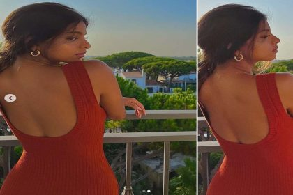 रेड ड्रेस में किंग खान की लाडली सुहाना खान ने ढाया कहर! देखें गॉर्जियस फोटोज