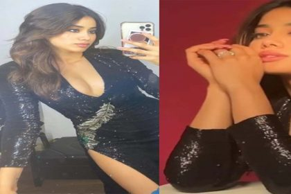 Janhvi Kapoor Photos: जाह्नवी कपूर ने ब्लैक ड्रेस में कराया ग्लैमरस फोटोशूट! तस्वीरें हुईं वायरल