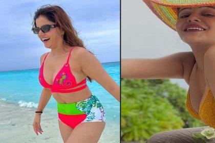 पति संग मालदीव पहुंचीं रुबीना दिलैक! बिकीनी वाली तस्वीरों से मचा दिया है धमाल