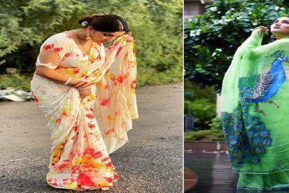 Sapna Choudhary In Saree : प्रिंटेड साड़ी में सपना चौधरी ने दिखाई अदाएं! देखें तस्वीरें