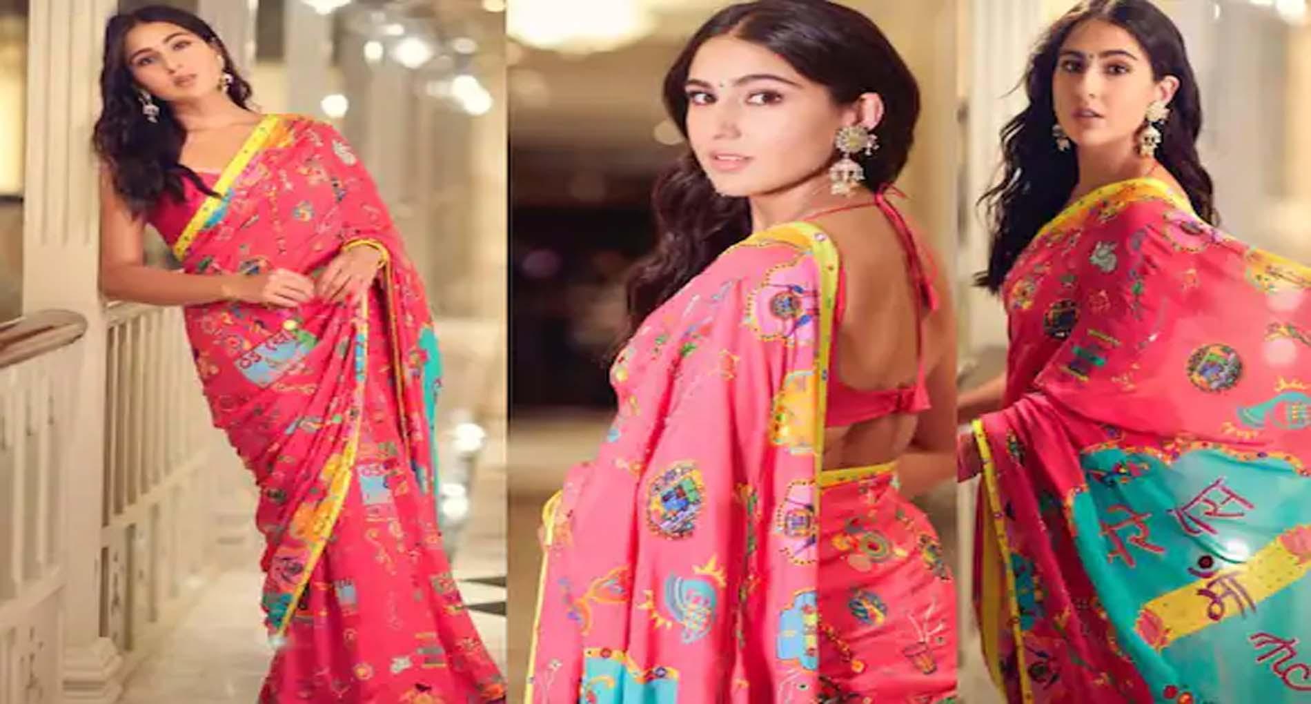Sara Ali Khan Photos: साड़ी पहनकर यूं इठलाईं सारा अली खान! तस्वीरें हो रही हैं वायरल